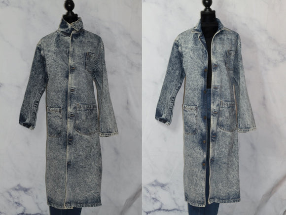 Seagrass Denim Stonewash Trench Coat (s)