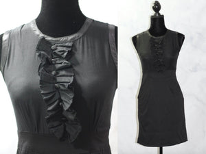 Twenty One  Black Ruffle Front Dress (s)