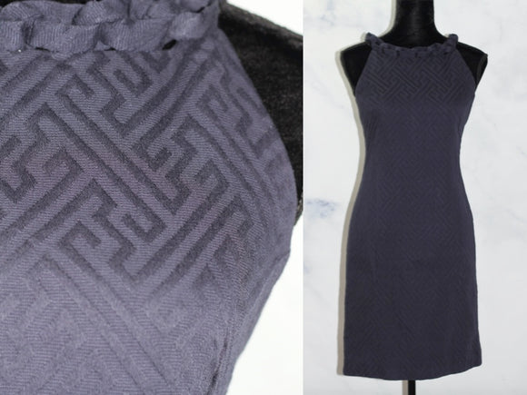 Just Taylor Navy Blue A- Line Dress (2)
