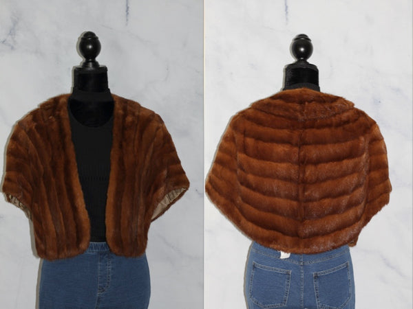 Parisian Birmingham Co. Beautiful Squirrel Fur Stole with Pockets