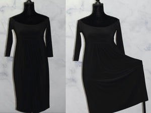 Norma Kamali Black Stretch Dress (S)