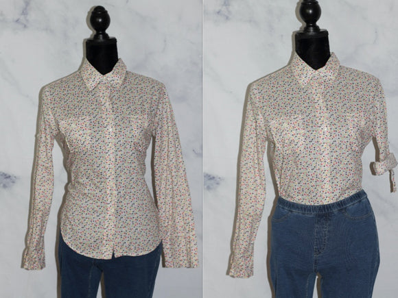 GAP Classic Multi Color Floral Cotten Top (S)