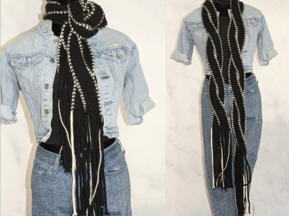 GAP Black & White Cotton Scarf