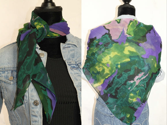Green Multi Color Scarf Shawl