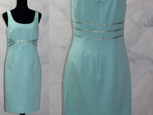 Jane Street Baby Blue Cotton Sheath  Dress (6)