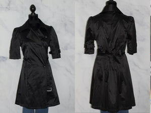Elle Black Trench Coat (S)