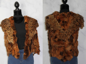 Rabbit Fur Vest with Silk Lining (S)
