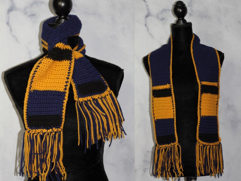 Blue & Yellow Scarf