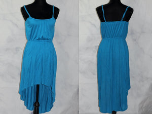Handmade Blue Asymmetrical Dress  (S)