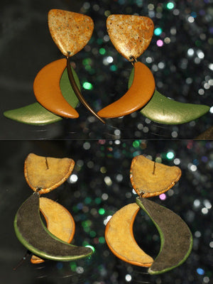 80's Tropical Dangle Drop Earrings *Excellent Condition