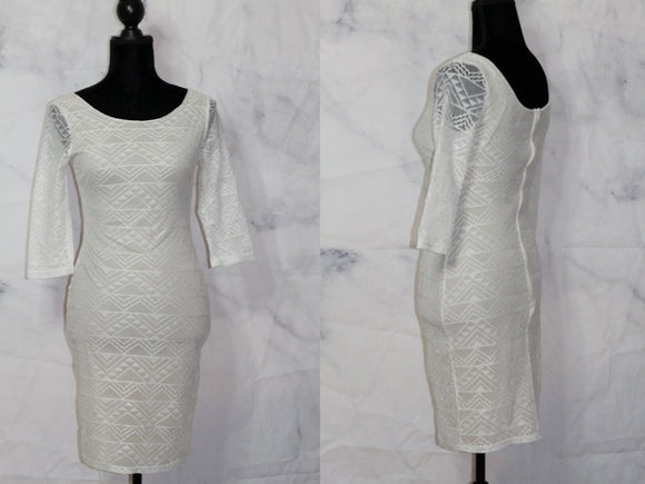 Persaya Cream White Lace Dress (xs)
