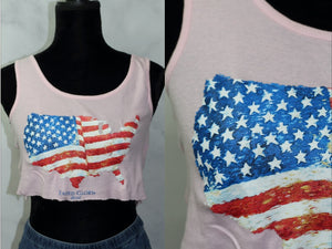 Faded Glory Classic  Pink Crop Top (S)