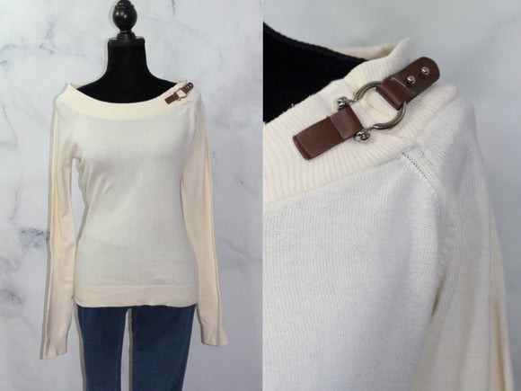 Ralph Lauren Cream Cotton Sweater (M)