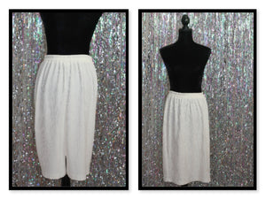 Cream Pleated Skirt(M)