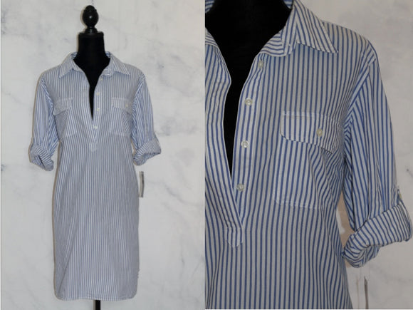 Blue White Stripe Dress (XL)