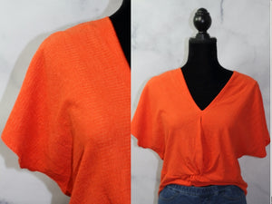 Zara Orange Mid Drift Top