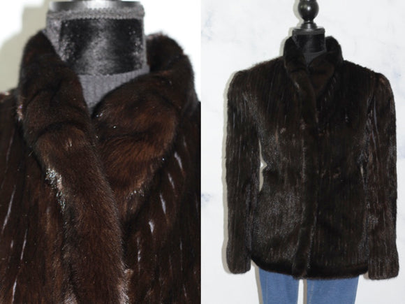 Dasco Chocolate Brown Mink Fur Coat (10)