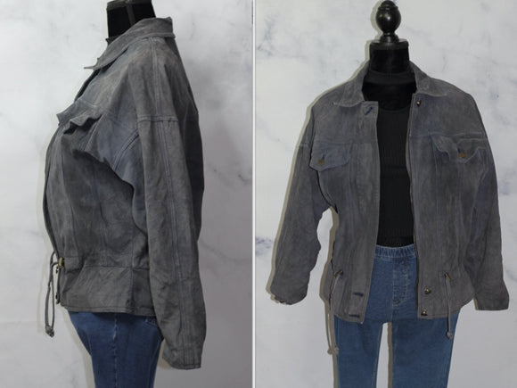 Outbrook  Blue Leather Jacket (M)