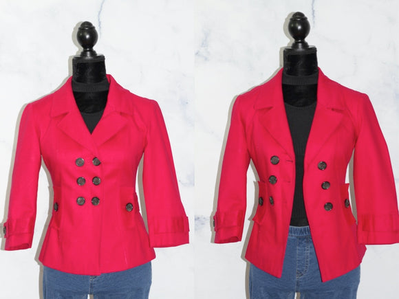 Banana Republic Hot Pink Blazer (2)