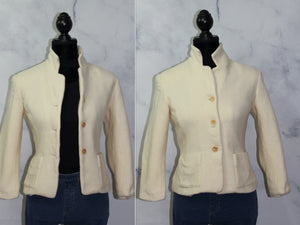 Talbots Wool Cream Blazer (10)