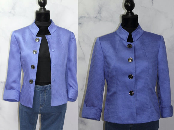 Tahari Blue Blazer (8) *Excellent Condition