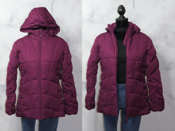 Faded Glory Burgundy Bomber Coat (M)