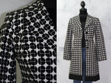 Anthracite Black & White Cotton Trench Coat *New (S)