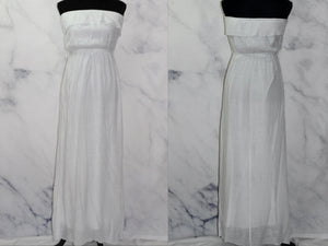 White Ruffle Top Strapless  Dress (L)