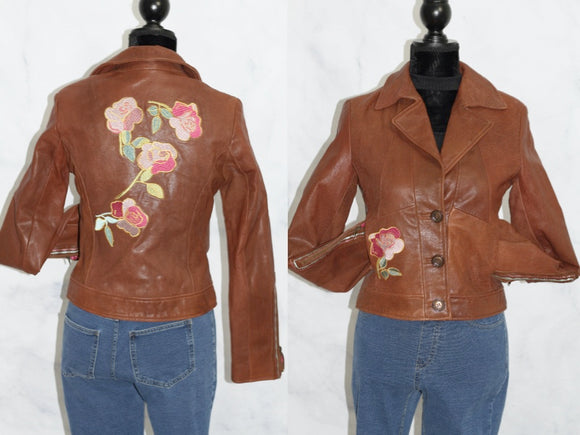 G Brand Brown Leather Jacket