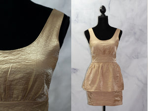 Love 21 Gold Sheath Dress (M)