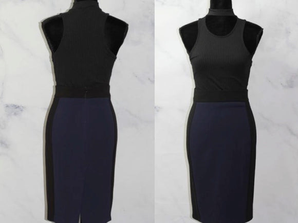 Zara  Stark Blue Pencil Skirt (L)