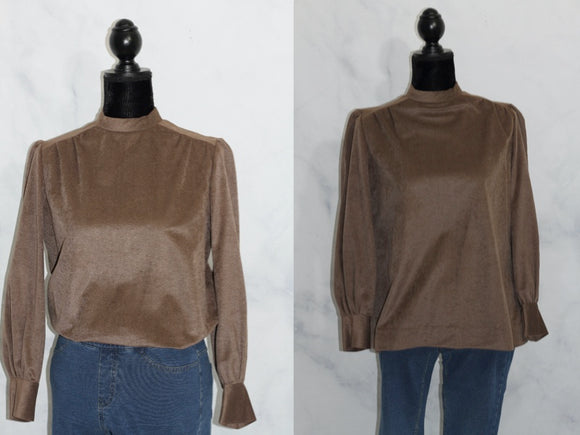 Handmade Brown Suede Top