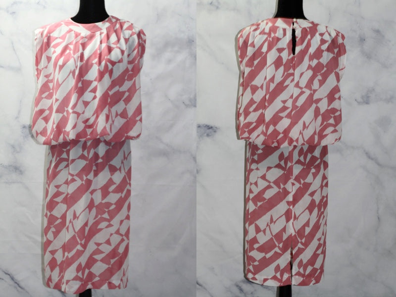 Alicia Pink & White A-Line  Dress (11-12)