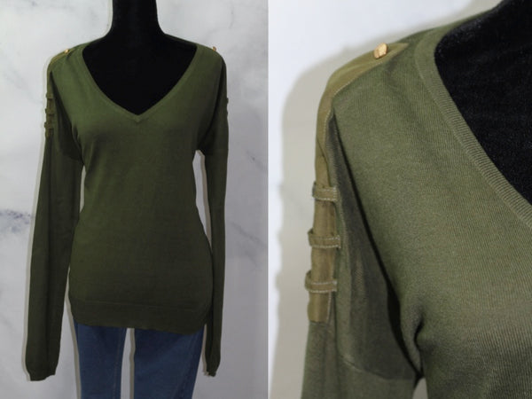 Romeo & Juliet Couture  Army Green Top (M)