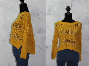 Lumiere Yellow Knit  Sweater (S)