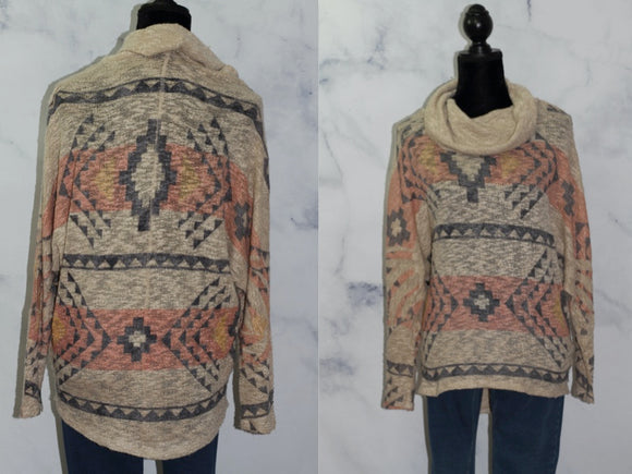 Tribal Pattern Sweater (S-M)