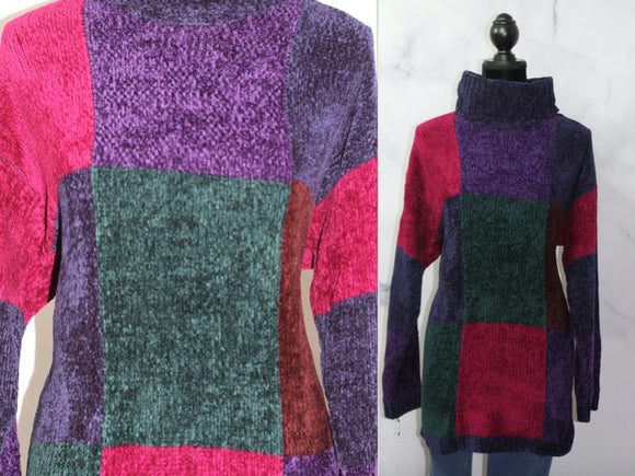 Bentley Sweater Cross Color Sweater (L)