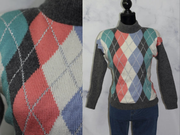 Suburban Multi Color Wool Sweater (Petites Medium)