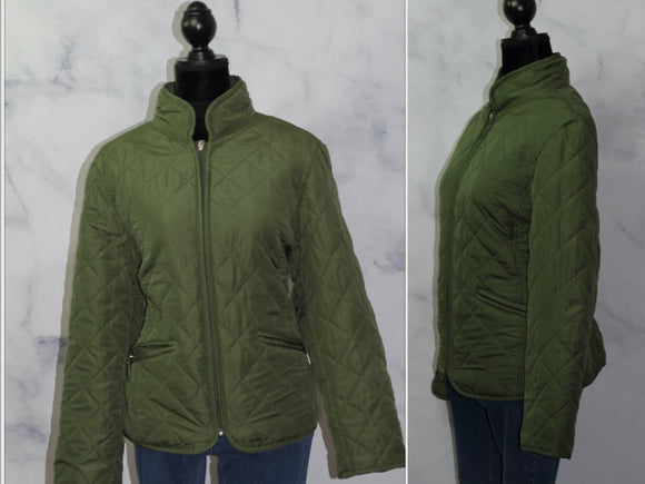 Jane Ashley Green Quilted Jacket (L)