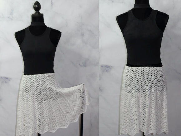 Hand Knit Cotton Skirt (S-M)