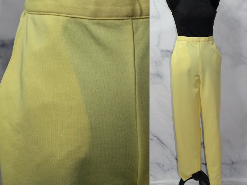 Alfred Dunner Yellow High Waist Trouser Pants (8)