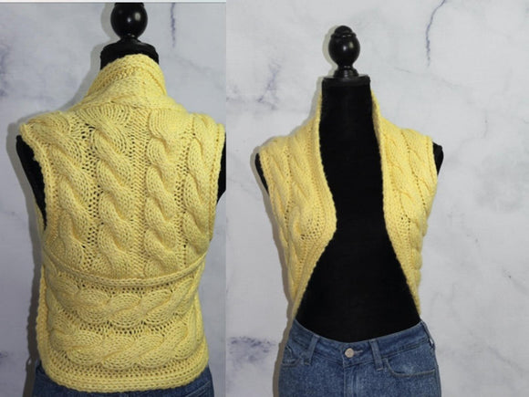 BEBE Yellow Princess Sweater Vest