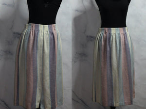 The New York & Company Multi Color Stripe Skirt (6)