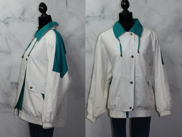 Preston & York Sports Green  White Jacket Coat (XL)