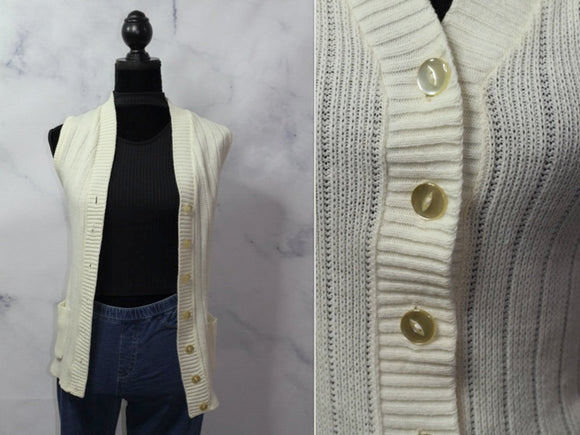 Cream Cotton Cardigan  (One Size)