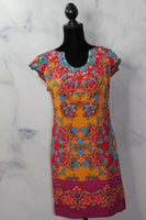 Muse Silk Multi Color Sheath Dress (8)