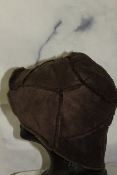 Brown Suede Bucket Hat