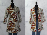 Ambition Floral Cotton Spandex Pea Coat (M)