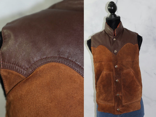 Reversible  Leather & Suede Vest (M-L)