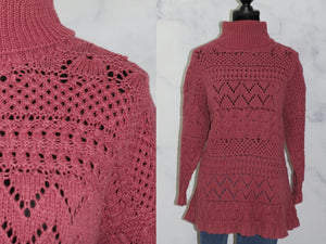 Style New York HandKnit  Pink Sweater   (S)